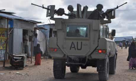Amisom peacekeepers in Somalia