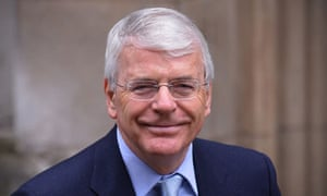 John Major arrives at Leveson