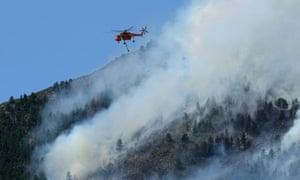 Wildfire in northern Colorado