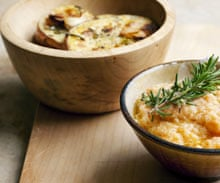 Cod roe with rosemary potato crisps