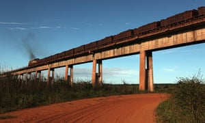 Amazon deforestation : A train operated by Vale, a mining company and Brazil's biggest exporter