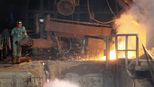 Amazon deforestation : A smelter produces pig iron fired by llegally harvested charcoal
