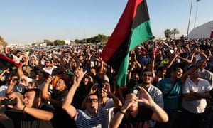 election protestors in Benghazi