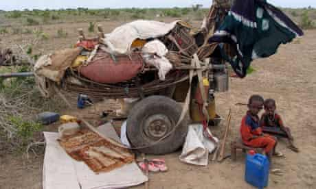 Nomadic Somali children in Middle Shabelle region