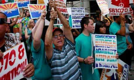 Arizona immigration law protest