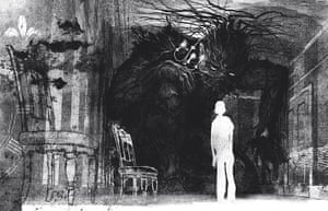 Carnegie and Greenaway : illustration from the book A Monster Calls by Jim Kay 1