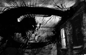 Carnegie and Greenaway : illustration from the book A Monster Calls by Jim Kay 3