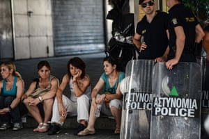 Greece: 13-14 June: Greek municipal workers protest against austerity measures