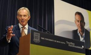 Tony Blair in Hong Kong