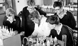 A science lesson in 1961