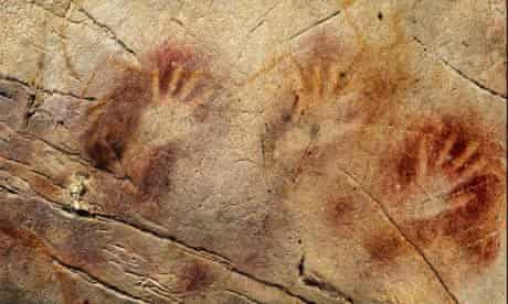 Hand stencils at the El Castillo Cave in Spain