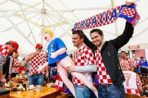 sport: Croatian supporters