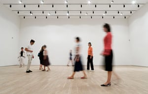 Invisible Art: Public move around a gallery room