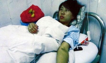 Feng Jianmei in hospital in China