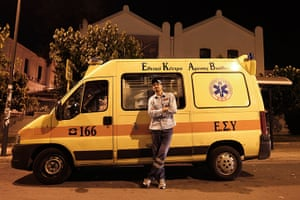 Greece: health system: A rescuer of the Greek National Centre of First Aid