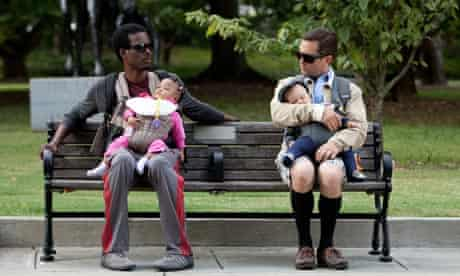 Chris Rock and Tom Lennon in the film What to Expect When You're Expecting