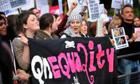 Pro-choice campaigners in London