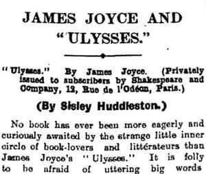 1922 Observer Ulysses review