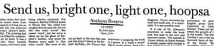 Anthony Burgess on Joyce