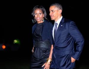 Obama fundriser NYC: Barack Obama, Michelle Obama