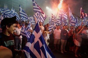 Andy Hall Athens: Supporters of the centre-right New Democracy party