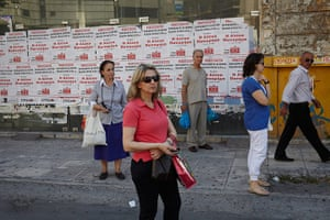 Andy Hall Athens: People in the streets of Athens in the run up to the election