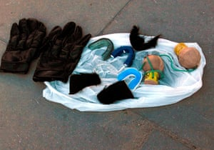 Group A: Objects confiscated by Polish police officers from Russian fans