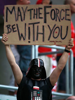 Group A: Fan of Poland, dressed as Star Wars character Darth Vader
