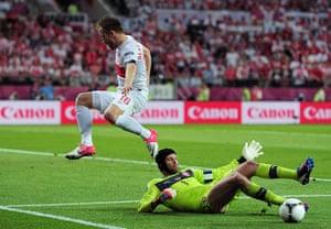 Group A: Jakub Blaszczykowski is blocked by Petr Cech