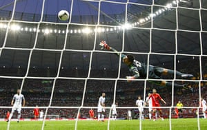 Group A: Greece's goalkeeper Sifakis saves the ball