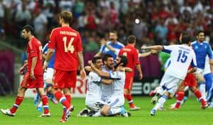 Group A4: Greece celebrate
