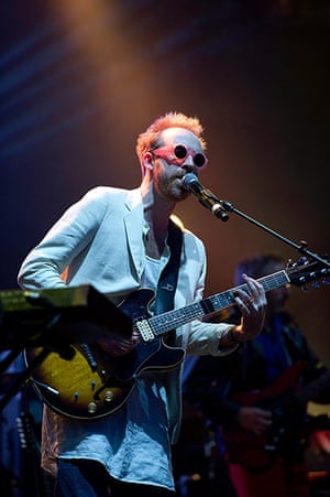 Lovebox: Owen Clarke of Hot Chip performs on day one of Lovebox