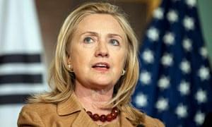 Hillary Clinton after South Korean talks