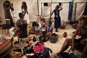 FTA Finbarr O'Reilly: Models change outfits backstage during the 10th annual Dakar Fashion Week