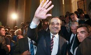 Antonis Samaras, leader of New Democracy party
