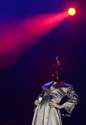 Lovebox day 3: Grace Jones on stage at Lovebox