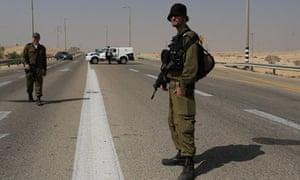 Israeli forces near Egyptian border