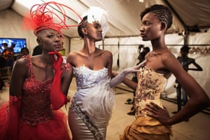 Dakar fashion week: Modes wearing creations by Cameroonian designer Martial Tapolo