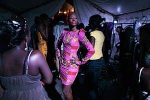 Dakar fashion week: Fleur Mbaye wearing a creation by Senegalese designer Adama Paris