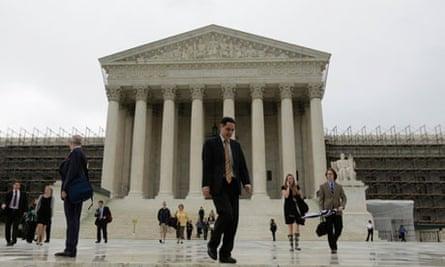 US supreme court in Washington