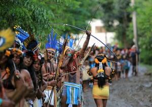 UN Rio+20: Fire ceremony in Rio+20 Summit