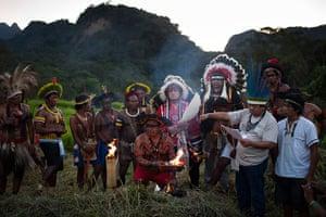 UN Rio+20: Sacred Fire Lighting Ceremony at the Kari-Oca village