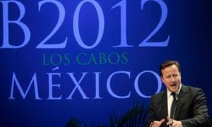 David Cameron B20 Mexico 2