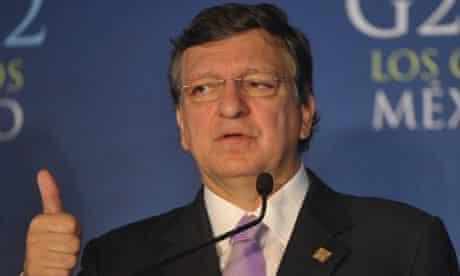 José Manuel Barroso at the G20 summit