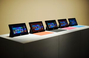 Microsoft Surface tablet: The Microsoft tablet Surface is unveiled at Milk Studios