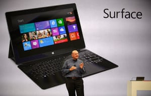 Microsoft Surface tablet: Microsoft CEO Steve Ballmer unveils the new tablet computer