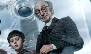 Grandpa Joe and Charlie in Charlie and the Chocolate Factory
