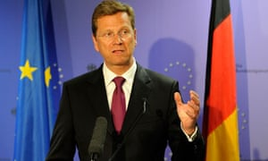 German Foreign Affairs minister Guido We