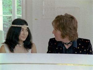 Yoko Ono archive photos: Lennon and Yoko Ono in the Imagine video