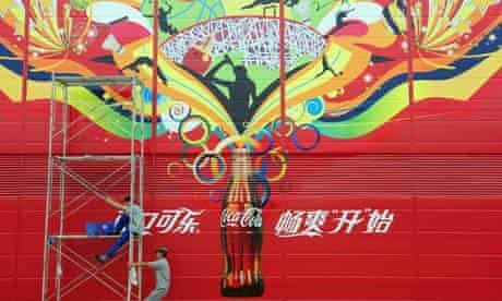 Coca-Cola poster at the Beijing Olympics